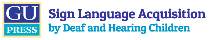Sign Language Acquisition by Deaf and Hearing Children Logo